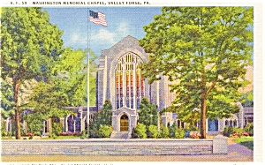 Valley Forge PA Memorial Chapel Postcard (Image1)