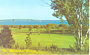 Mackinac Straits Bridge,Mackinac Island, MI  Postcard (Image1)