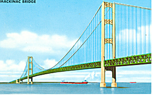 Mackinac Bridge,Mackinac Island, MI  Postcard (Image1)