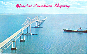 Sunshine Skyway Tampa Bay Florida  Postcard p18606 (Image1)