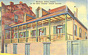 Madame John's Legacy,New Orleans, LA Postcard 1942 (Image1)