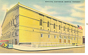 Municipal Auditorium, Memphis, TN Postcard (Image1)