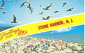 Stone Harbor New Jersey Postcard p18631 1974 (Image1)