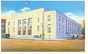Post Office, Wilkes Barre,PA Postcard 1939 (Image1)