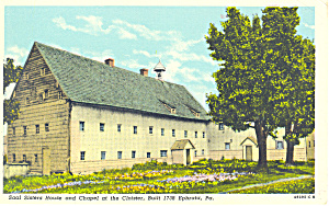 Saal Sisters House, Cloister, Ephrata, PA Postcard (Image1)