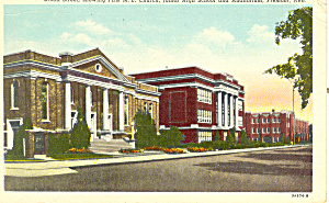 ME Church and School, Fremont, NE Postcard 1956 (Image1)