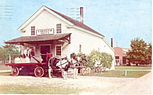Loranger Grist Mill Greenfield Village MI Postcard p18661 1955 (Image1)