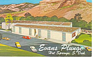 Evans Plunge Hot Springs SD Postcard p18687 (Image1)