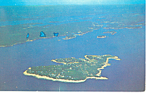 Aerial of Squirrel Island, Maine Postcard (Image1)