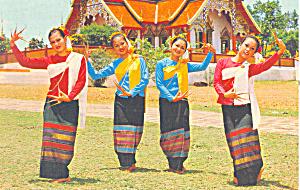 Fan-Lep Dance, Chiengmai, Thailand Postcard (Image1)
