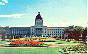 Legislative Building Regina Canada Postcard p18712 1970 (Image1)