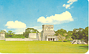 Temple of the Jaguars, Yucatan Mexico Postcard 1970 (Image1)