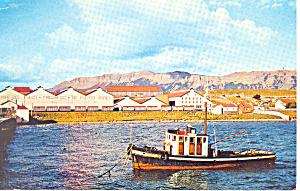 Frigorifico Puerto Borieso Fishing Boat Postcard p18721 (Image1)