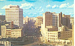 Street Scene Winnipeg Manitoba Canada Postcard p18725 (Image1)
