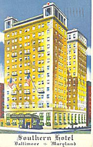 Southern Hotel  Baltimore Maryland Postcard p18736 1954 (Image1)
