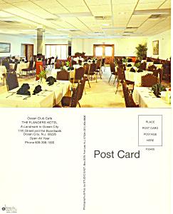 Interior Flanders  Hotel Ocean City NJ Postcard p18738 (Image1)
