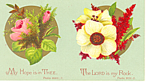 Bible Verse Psalm  39:7 and Psalm 18:2 Card p18745 (Image1)