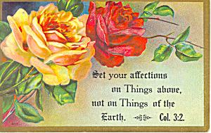 Bible Verse Col. 3:2 Postcard (Image1)