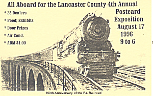 Lancaster Postcard Expo 1996 Postcard p18755 (Image1)