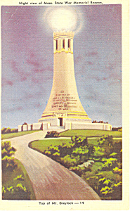 War Memorial, Mt Greylock, Massachusetts Postcard (Image1)