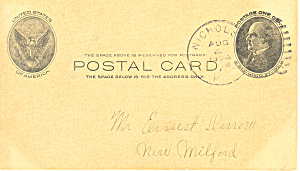 Ux18 1 Cent Mckinley In Oval Postal Card