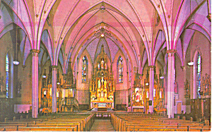 Interior St Agnes Church, Ashland, Wi Postcard