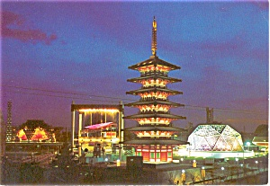 Expo 70 Japanese Pavilions Postcard p1877 (Image1)