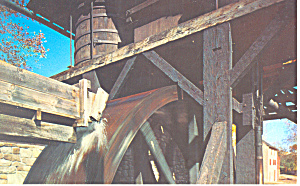 Waterwheel Hopewell Village Birdsboro PA Postcard p18780 (Image1)