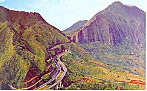 Entrance to Pali Tunnel on Oahu Hawaii p18831 (Image1)