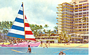 Catamaran Hilton Hawaiian Village Wakiki Hawaii P18834