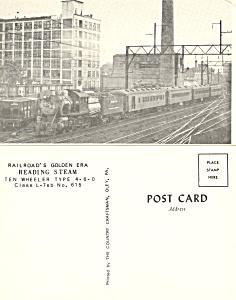 Reading Railroad Ten Wheeler 4-6-0 No 615 p18868 (Image1)