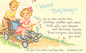 Happy Birthday Postcard p18891 Numbers 6:24 (Image1)