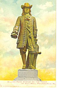 William Penn Statue Philadelphia  Pennsylvania p18940 (Image1)