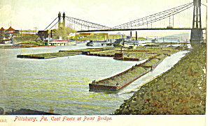 Coal Barges Pittsburgh  Pennsylvania p18951 (Image1)