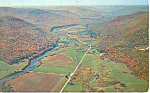 Pine Creek Valley And Highway 6 Pennsylvania P18962