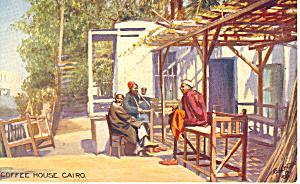 Cairo Egypt Coffee House Raphael Tuck Postcard p18999 (Image1)