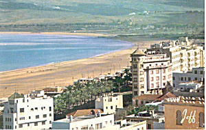 The Beach Tanger Morocco Postcard p19026 (Image1)