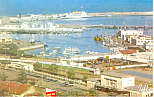 The Station and The Port Tanger Morocco Postcard p19027 (Image1)