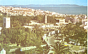 General View Tanger Morocco Postcard p19028 (Image1)