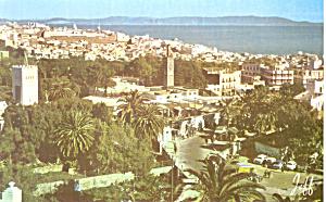 General View Tanger Morocco Postcard p19028 (Image1)
