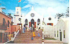 St Peter s Church St George s Bermuda Postcard p19037 (Image1)
