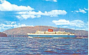 Bluenose Leaving Bar Harbor  ME Postcard p19045 (Image1)