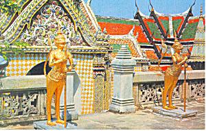 Temple of Emerald Budha  Bangkok Thailand Postcard p19053 (Image1)