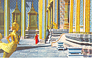 Inside Temple of Emerald Budha, Bangkok,Thailand Postca (Image1)