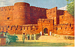 Amar Sing Gate Agra Fort Agra India Postcard p19056 (Image1)