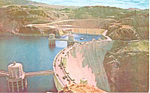 Boulder Dam. Lake Mead NV Postcard p19059 (Image1)