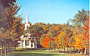 Autumn Old Sturbridge Village Green MA Postcard p19074 (Image1)