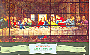The Last Supper Forest Lawn CA Postcard p19079 (Image1)