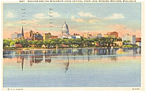 Madison WI State Capitol  Postcard p1907 (Image1)