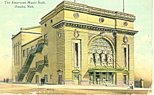 The American Music Hall, Omaha, NE Postcard 1912 (Image1)
